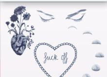 眼睛、月食、鲜花爱心等Photoshop照片美化笔刷