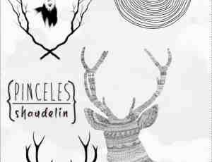 时尚鹿图案、鹿头、麋鹿图形Photoshop笔刷