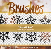 漂亮的圣诞节雪花花纹图案Photoshop冰晶花纹笔刷