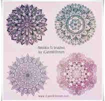 4种漂亮的富丽堂皇民族花纹图案Photoshop欧美贵族印花笔刷