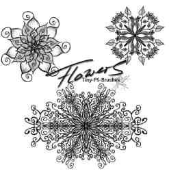 神秘宗教色彩的花纹图案Photoshop手绘花纹笔刷-海量PS笔刷素材