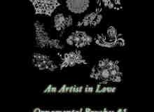 漂亮的欧式刺绣花纹图案Photoshop贵族印花笔刷