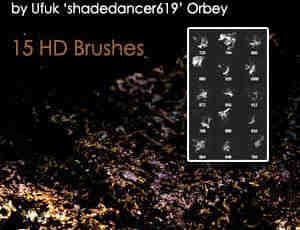 喷溅的泥浆、泥水四溅Photoshop笔刷素材