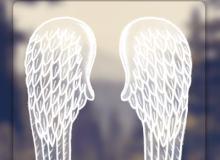 手绘童趣涂鸦天使羽翼翅膀图案PS笔刷素材