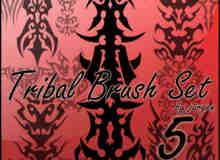 部落纹饰刺青图腾、神话纹身图案PS笔刷素材