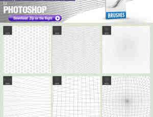 空间纵横线网格线背景、立体空间感背景线条PS笔刷素材+TPL工具预算