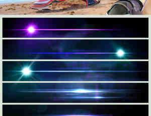 高清镜头光晕、耀斑效果PS光影特效笔刷(PNG格式图片素材)