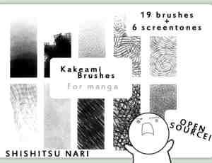 绘画漫画类专用笔触效果Photoshop笔刷素材