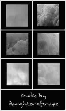 天空中浓密的云朵、云层效果Photoshop笔刷素材