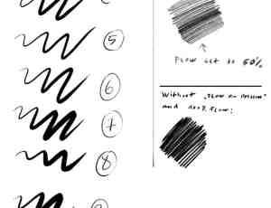 10种碳素铅笔、蜡笔效果笔触PS笔刷素材