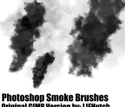 Photoshop仿真式浓烟效果笔刷素材下载