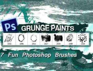 7种高清油漆纹理效果PS油漆笔刷素材