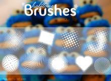 半调网纹图案Photoshop背景装饰图案笔刷下载(PNG图片格式!已扣图!)