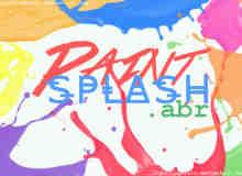 油漆飞溅、喷溅效果Photoshop笔刷素材免费下载