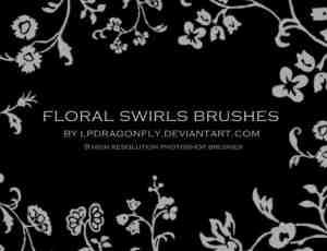 漂亮的植物花纹图案、印花花纹Photoshop笔刷素材下载