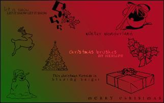 卡通圣诞节图案Photoshop圣诞节笔刷