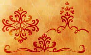 漂亮的欧美经典印花图案Photoshop手绘植物花纹笔刷