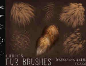 5种高清毛发、动物绒毛效果Photoshop笔刷素材