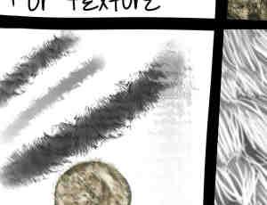 1个动物皮草、绒毛、皮毛Photoshop纹理笔刷(.bmp格式位图图片)