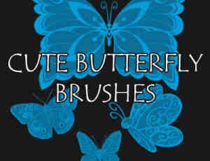 漂亮的蝴蝶花纹、彩蝶图案Photoshop蝴蝶笔刷