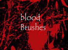 油漆喷溅、血液滴溅效果PS笔刷素材