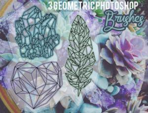 多边形图案、菱形组合图案Photoshop笔刷素材