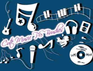可爱童趣音乐元素装扮Photoshop美图笔刷下载