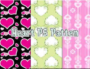 漂亮的花式爱心、心形图案情人节背景图案Photoshop图案底纹素材.pat