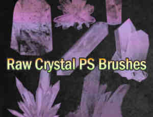 水晶矿、钻石矿效果图Photoshop笔刷素材下载