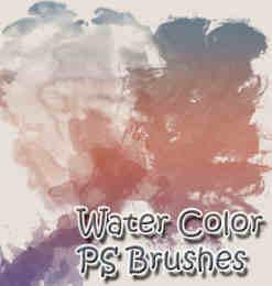 水彩颜料笔触效果Photoshop笔刷素材下载-搜索结果 第 20 页
