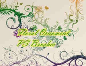 优雅的植物艺术花纹花卉图案Photoshop印花笔刷素材下载