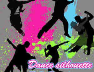 跳舞人生、舞者剪影图形Photoshop人物轮廓笔刷