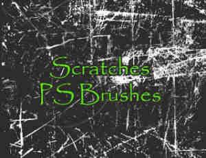 刮痕、摩擦痕迹、磨损纹理Photoshop笔刷素材