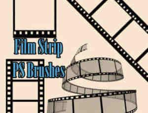 电影胶片、相片胶卷PS胶卷笔刷素材