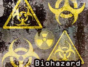 核辐射符号、危险辐射标志图案Photoshop生化危机符号笔刷