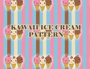 可爱卡通冰淇淋图案PS图案填充素材