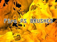 真实的火焰燃效效果图案Photoshop笔刷素材