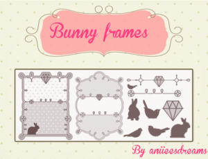 可爱的兔子、钻石、小鸟等图案Photoshop装饰笔刷