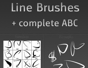 随意划痕涂鸦线条Photoshop笔刷素材下载