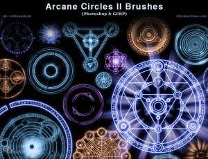 酷炫各种魔法阵效果、神秘魔法徽章、宗教仪式图案Photoshop符号笔刷