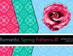 浪漫的花朵印花图案Photoshop填充图案文件底纹素材 .pat 下载