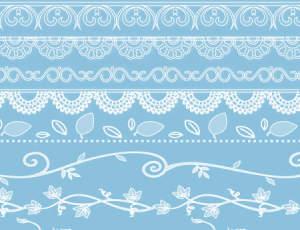 漂亮的欧美艺术线条花纹图案Photoshop植物花纹笔刷