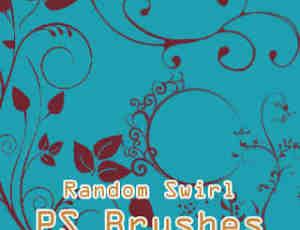 漂亮的艺术植物花纹图案、优雅花纹艺术Photoshop笔刷素材下载