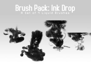 水墨、墨水在水中扩散效果Photoshop笔刷素材下载