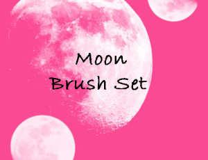 月亮月球效果PS笔刷素材免费下载
