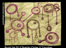 手绘涂鸦式眼球装饰图案PS笔刷素材下载