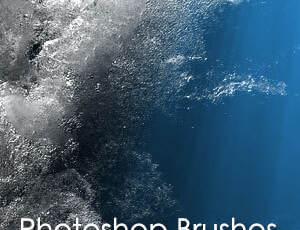 8种高清海中水下水气泡纹理效果Photoshop笔刷素材
