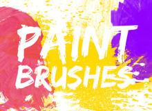 高品质油漆喷溅、滴溅、涂抹痕迹效果PS笔刷素材下载