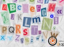 炫彩字母笔刷