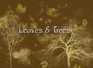 叶子和树笔刷